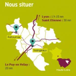 situation géographique communauté de communes des sucs yssingeaux retournac