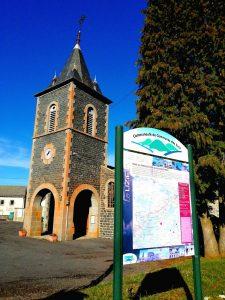 Panneau Rando Lizieux - commune d'Araules - Pays des sucs CCDS