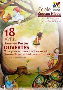 Affiche des journées portes ouvertes de l'école de la forêt