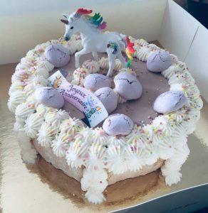 sucs et salés gâteau anniversaire déco licorne